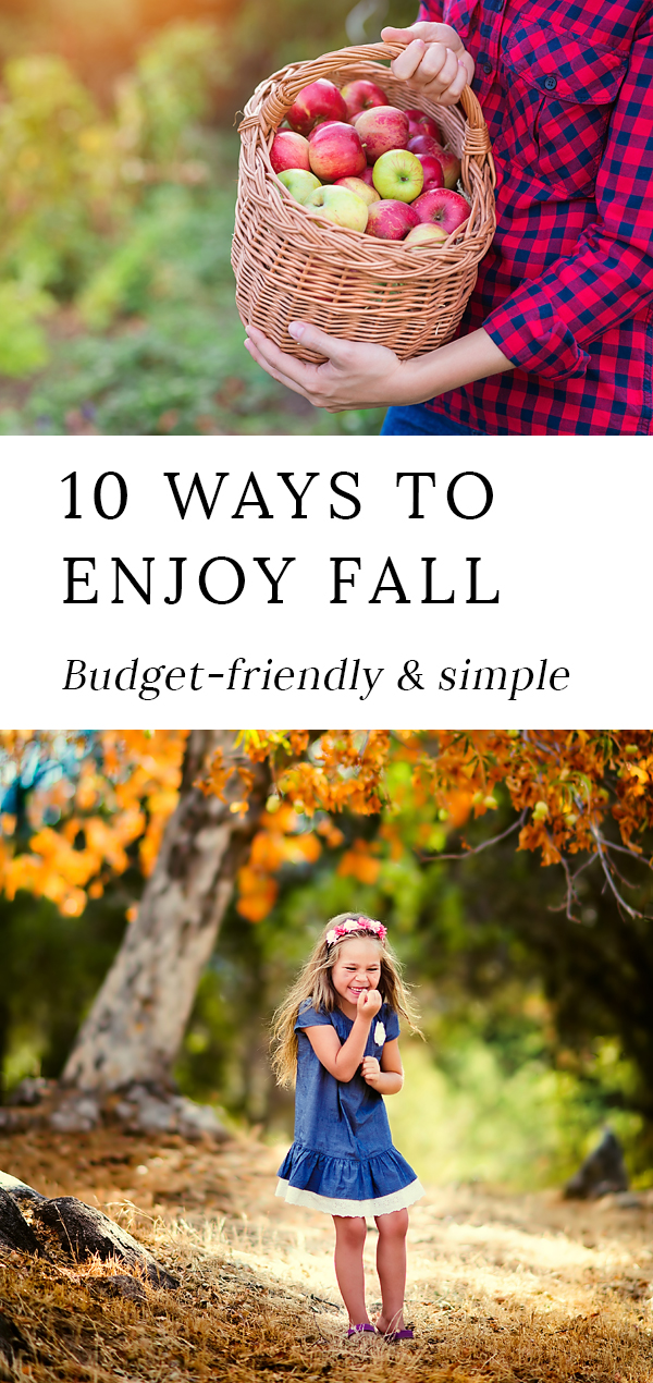 If you're on a quest to make the most of this season with your family in budget-friendly ways, here is a list of 10 Ways to Enjoy Simple Fall Family Fun! #family #parenting #fall #fallactivities #fallfun #kids via @firefliesandmudpies
