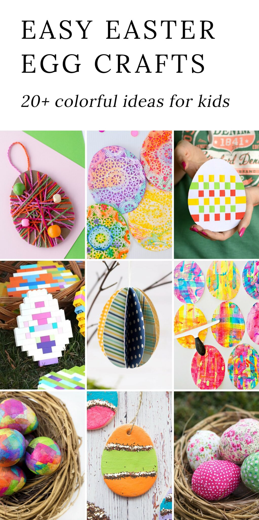 20 Colorful Easter Egg Crafts for Kids