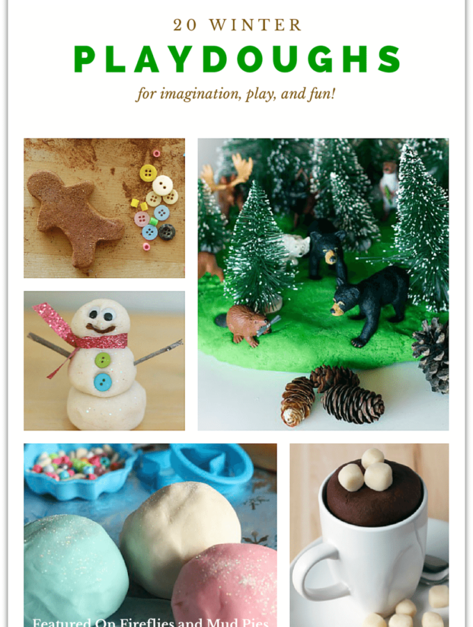 20 Playdough Recipes for Winter