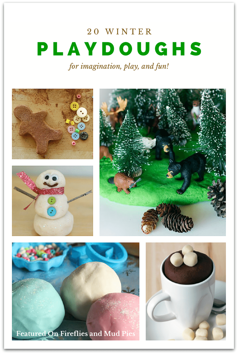 20 Winter Playdoughs for Kids  Fireflies and Mud Pies