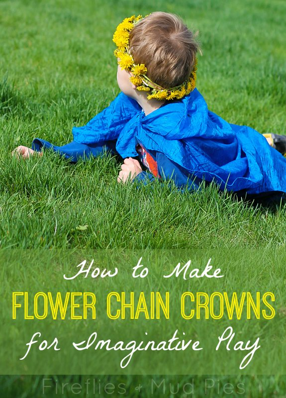 How to Make Flower Chain Crowns for Imaginative Play