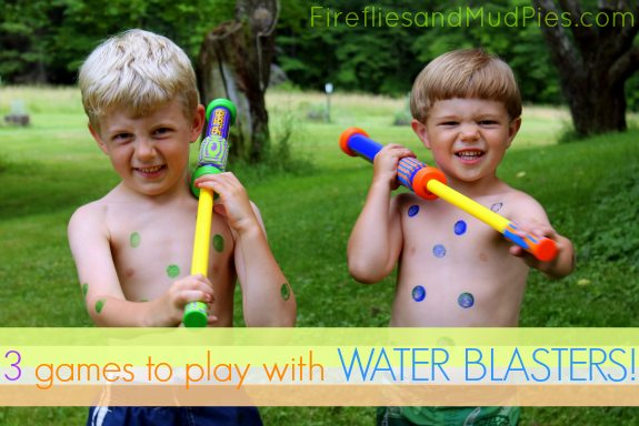 3 games to play with water blasters