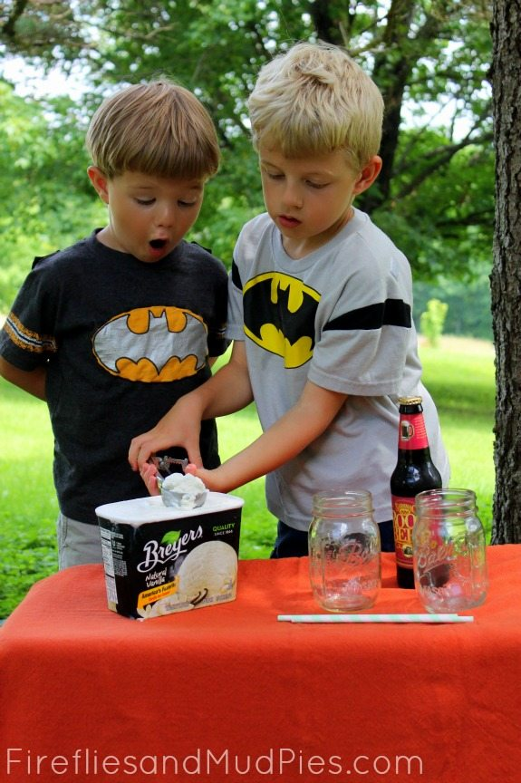 root beer ring toss root beer floats