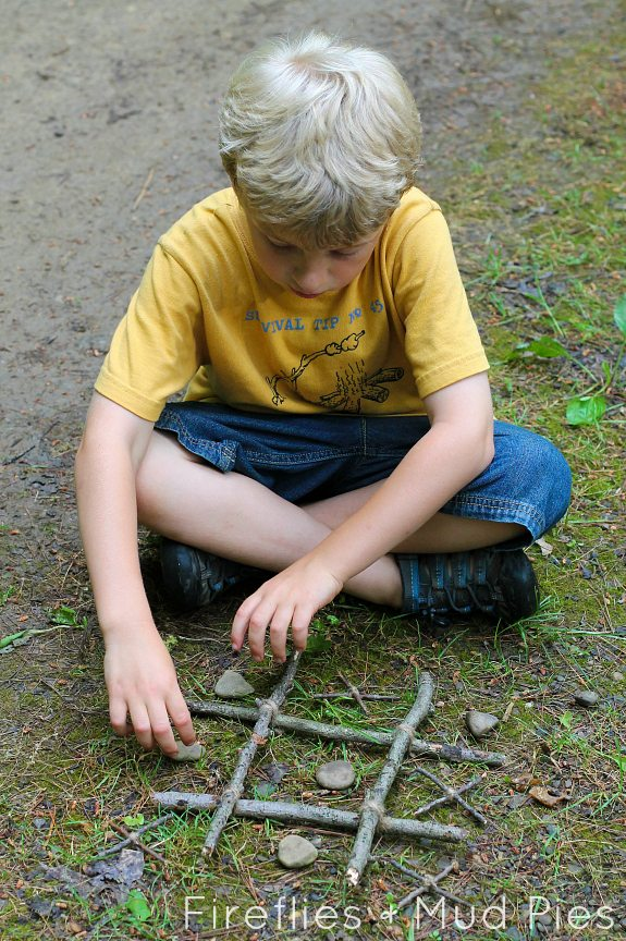 Create a Nature Inspired Tic-Tac-Toe Game with Natural Materials