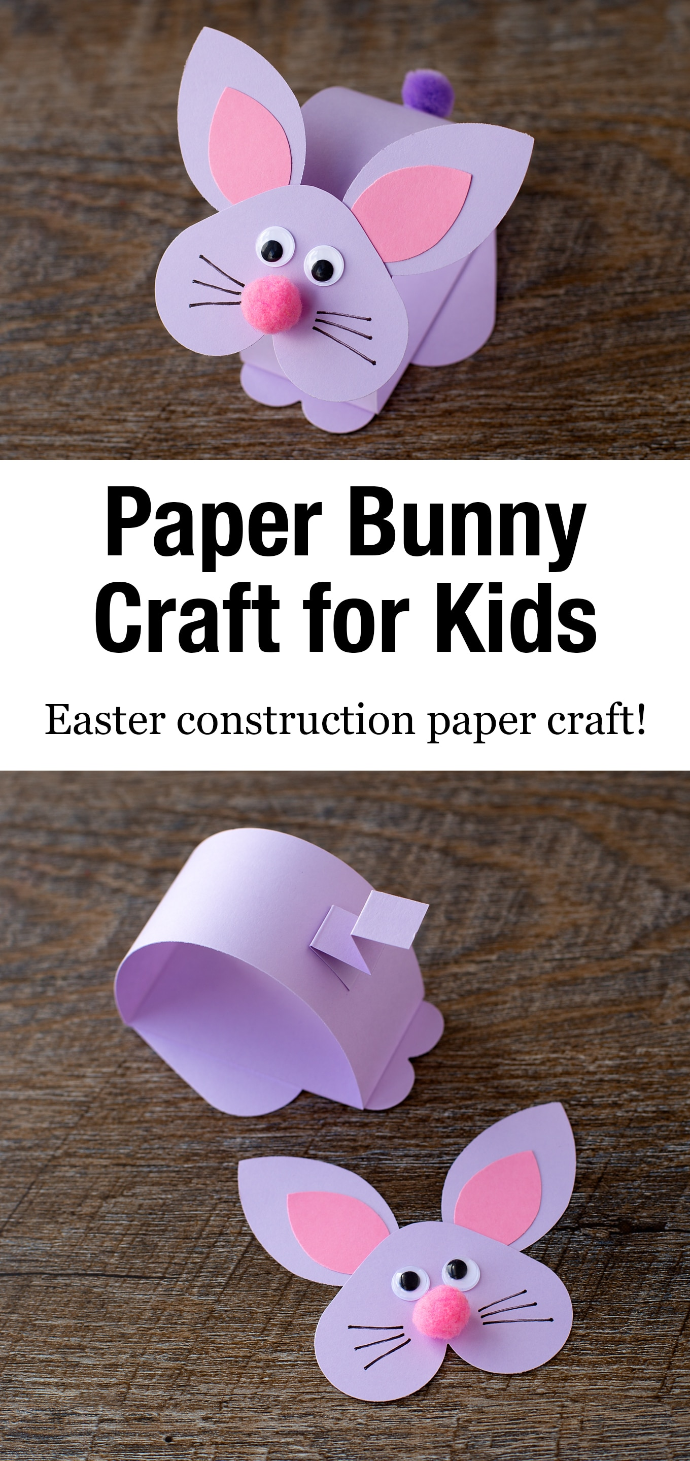 Just in time for Easter, kids of all ages will enjoy making an easy and fun paper bobble head bunny craft at school or home. #bunnycraft #eastercraft #kidscrafts via @firefliesandmudpies