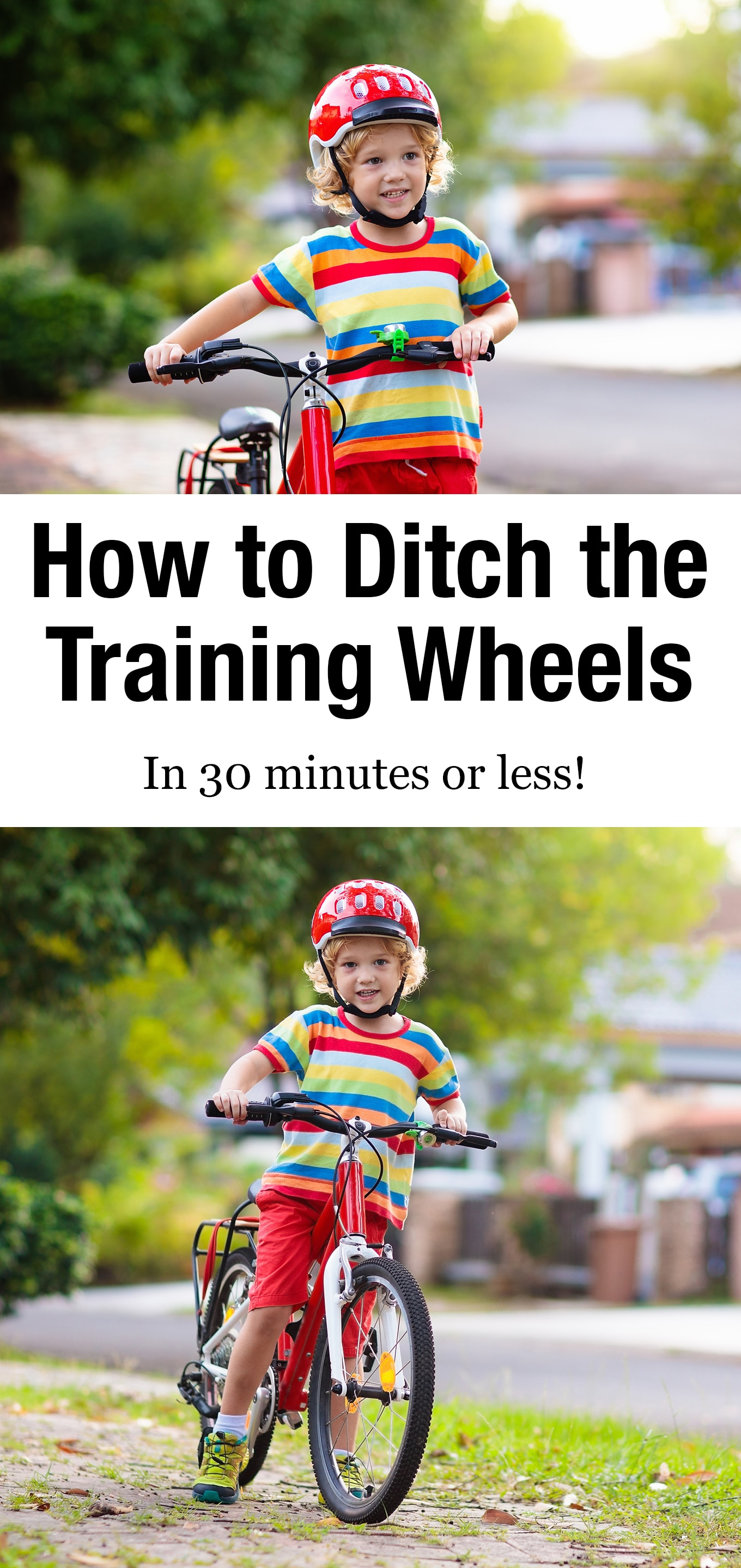 Teach your child how to ride a bike in 30 minutes or less with proven tips that work! #rideabike #teachyourchildtorideabike #preschool #bike #howtorideabike via @firefliesandmudpies