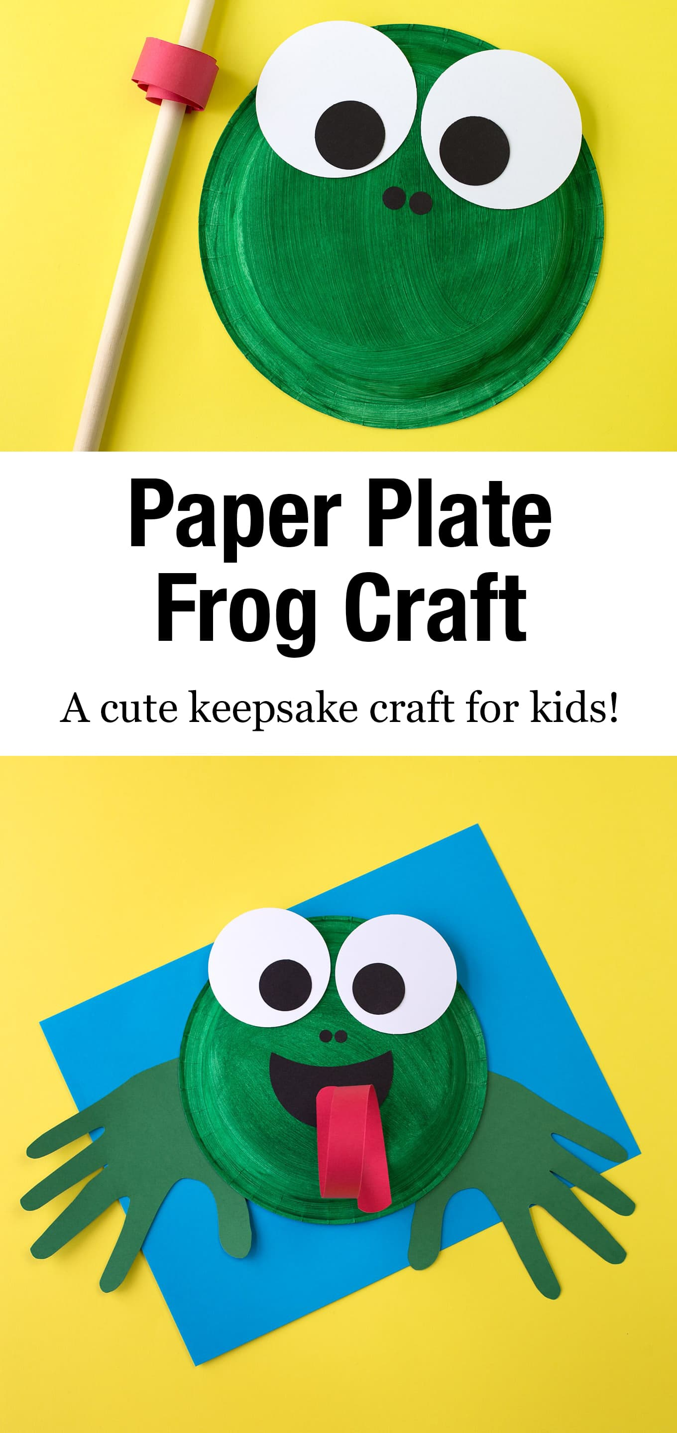 Learn how to make an adorable and fun Paper Plate Frog Craft for summer. This easy frog craft is perfect for helping kids, especially preschoolers, learn all about the life cycle of frogs and toads. #paperplatefrog #preschool #frogcraft #forkids #frogcraftsprescool #easy via @firefliesandmudpies