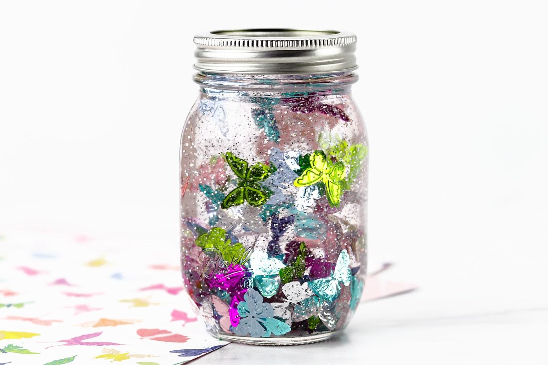 Butterfly Glitter Jar