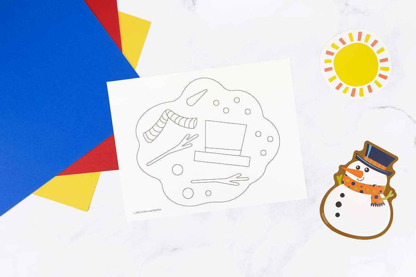 Melted Snowman Coloring Page