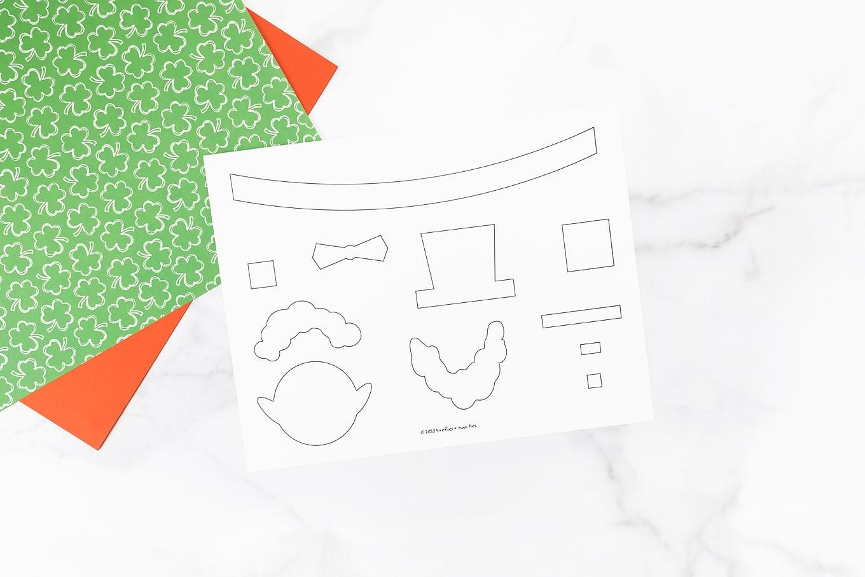 Paper Cup Leprechaun Template