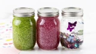 Spring Glitter Jars