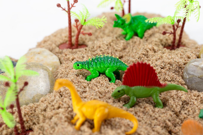Easy DIY Dinosaur Sensory Bin