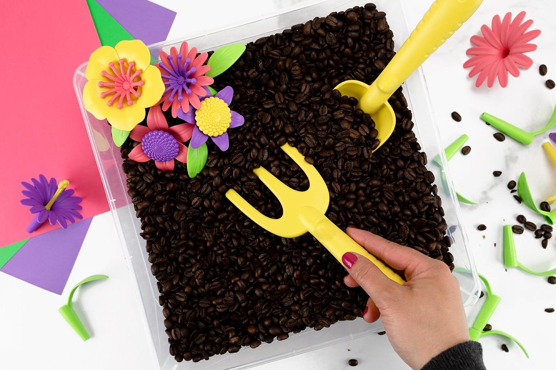 Digging in Garden Sensory Bin