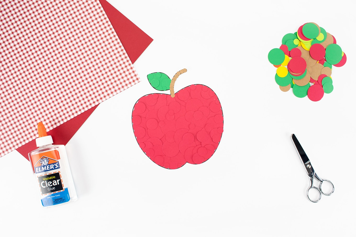 Red Paper Apple Craft Finished