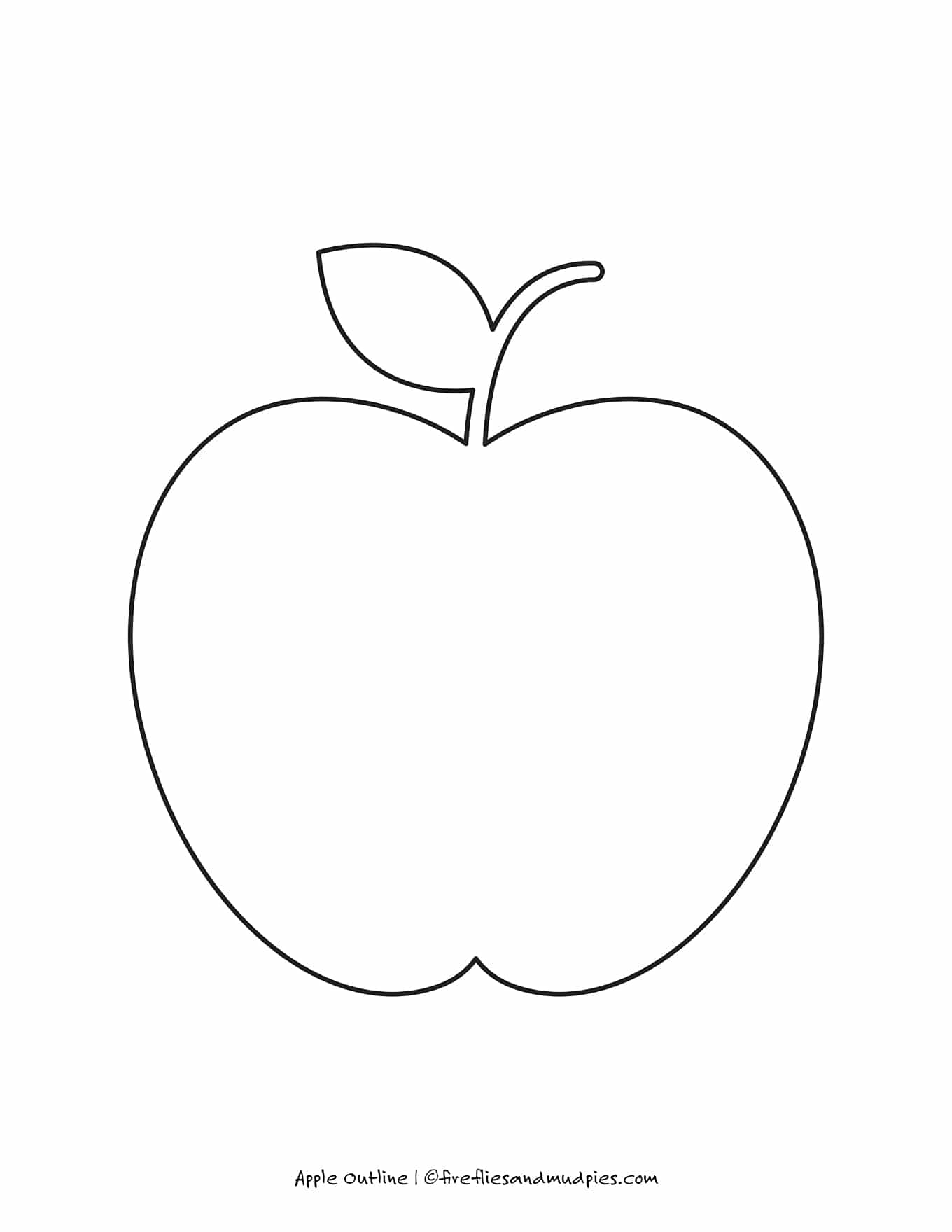 Large Apple Outline
