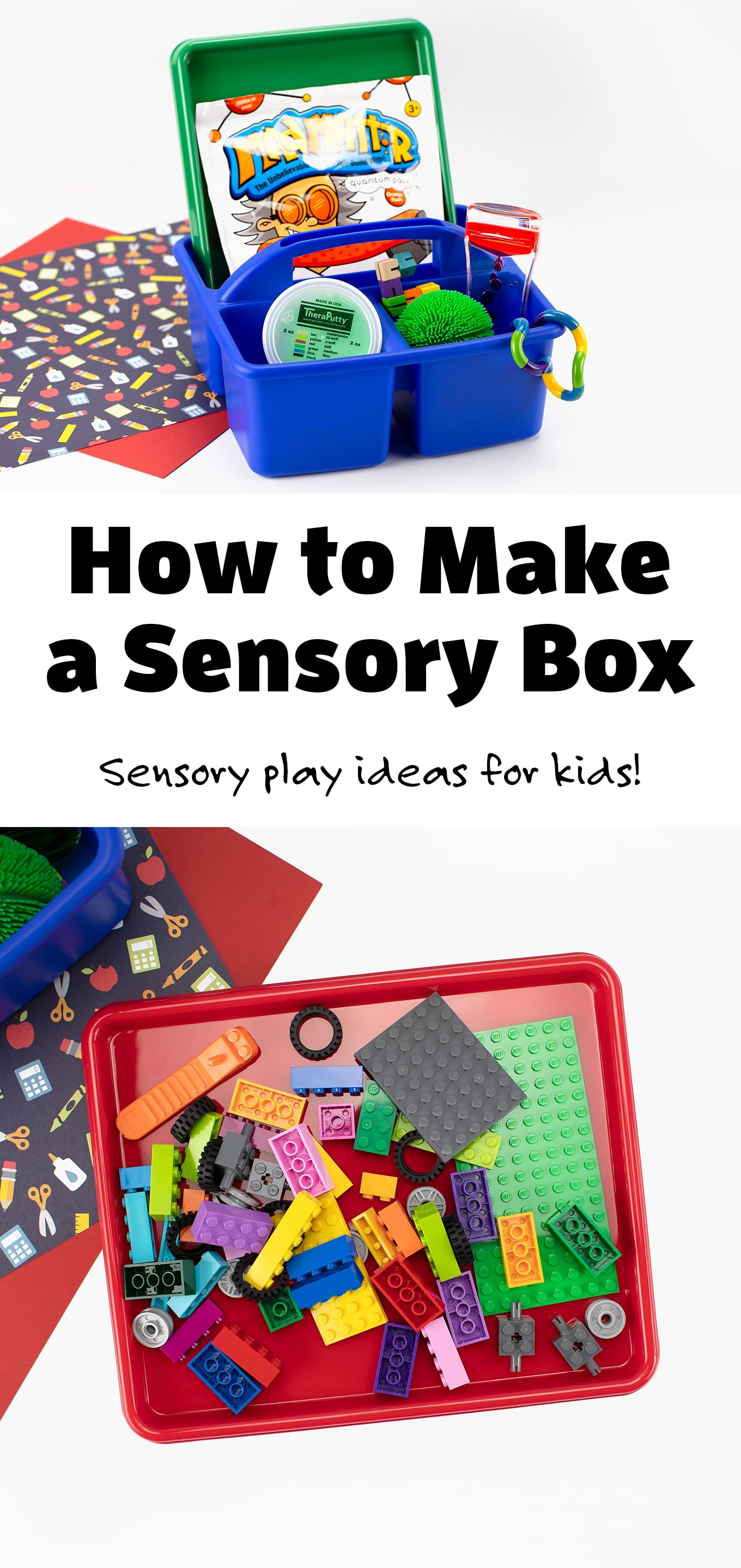 Learn how an individualized Sensory Box can help your child fulfill their sensory needs throughout their school day. #sensorybox #ideas #forkids #diy via @firefliesandmudpies