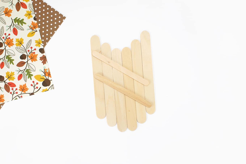 Popsicle Stick Acorn Craft In Process