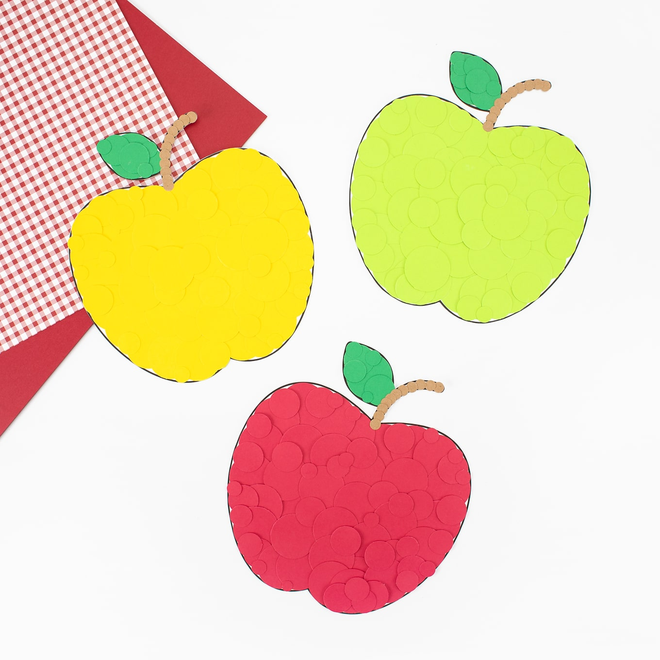 Paper Apple Craft for Kids