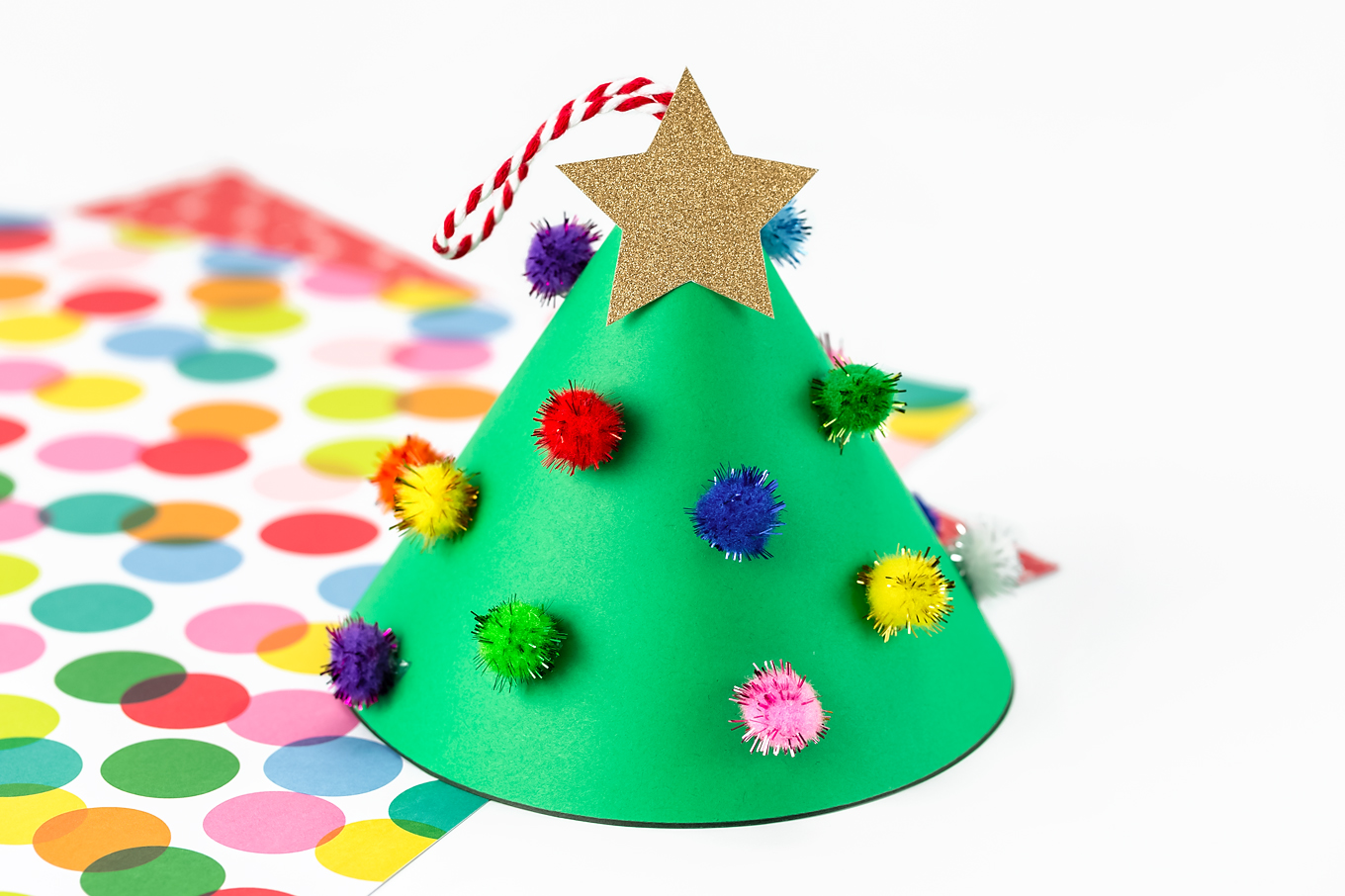 Paper Cone Christmas Tree Craft