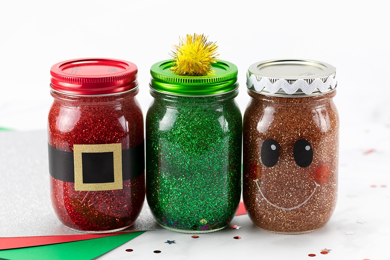 Christmas Glitter Jars