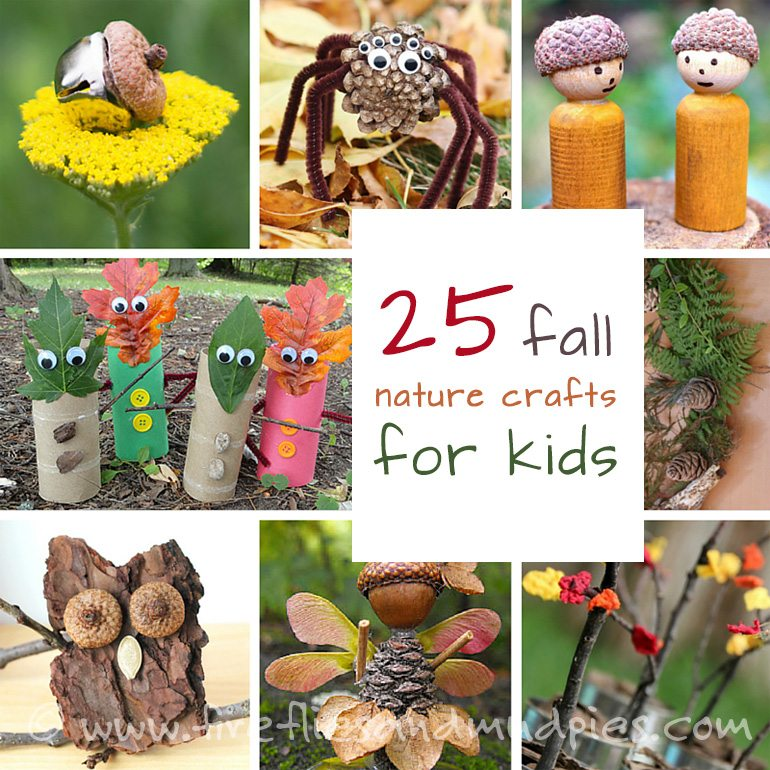 25 Fall Nature Crafts for Kids | Fireflies and Mud Pies