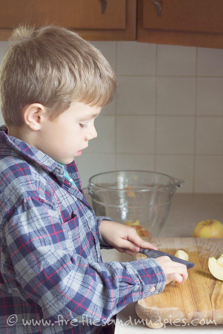 Kid-Made Crock Pot Applesauce | Fireflies and Mud Pies