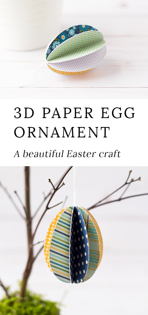 These darling Easter Egg Ornaments are perfect for Easter! Whether kids are learning about Easter, eggs, or simply enjoying a spring activity at home, this easy Easter craft is fun to make.