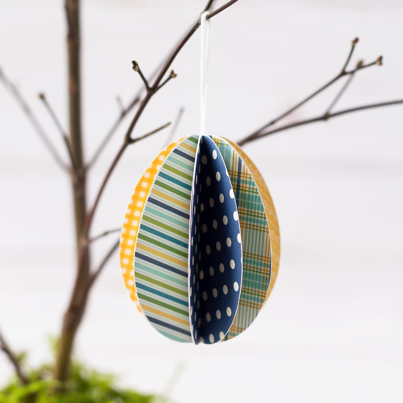 3D Paper Eggs Ornaments