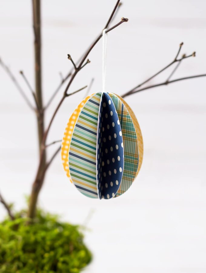 How to Make Paper Easter Egg Ornaments