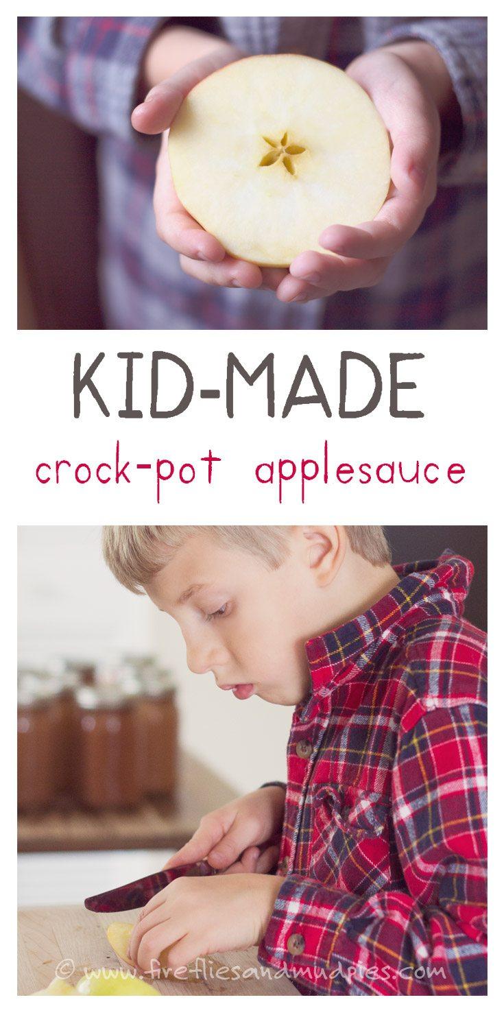 Kid-Made Crock-Pot Applesauce | Fireflies and Mud Pies
