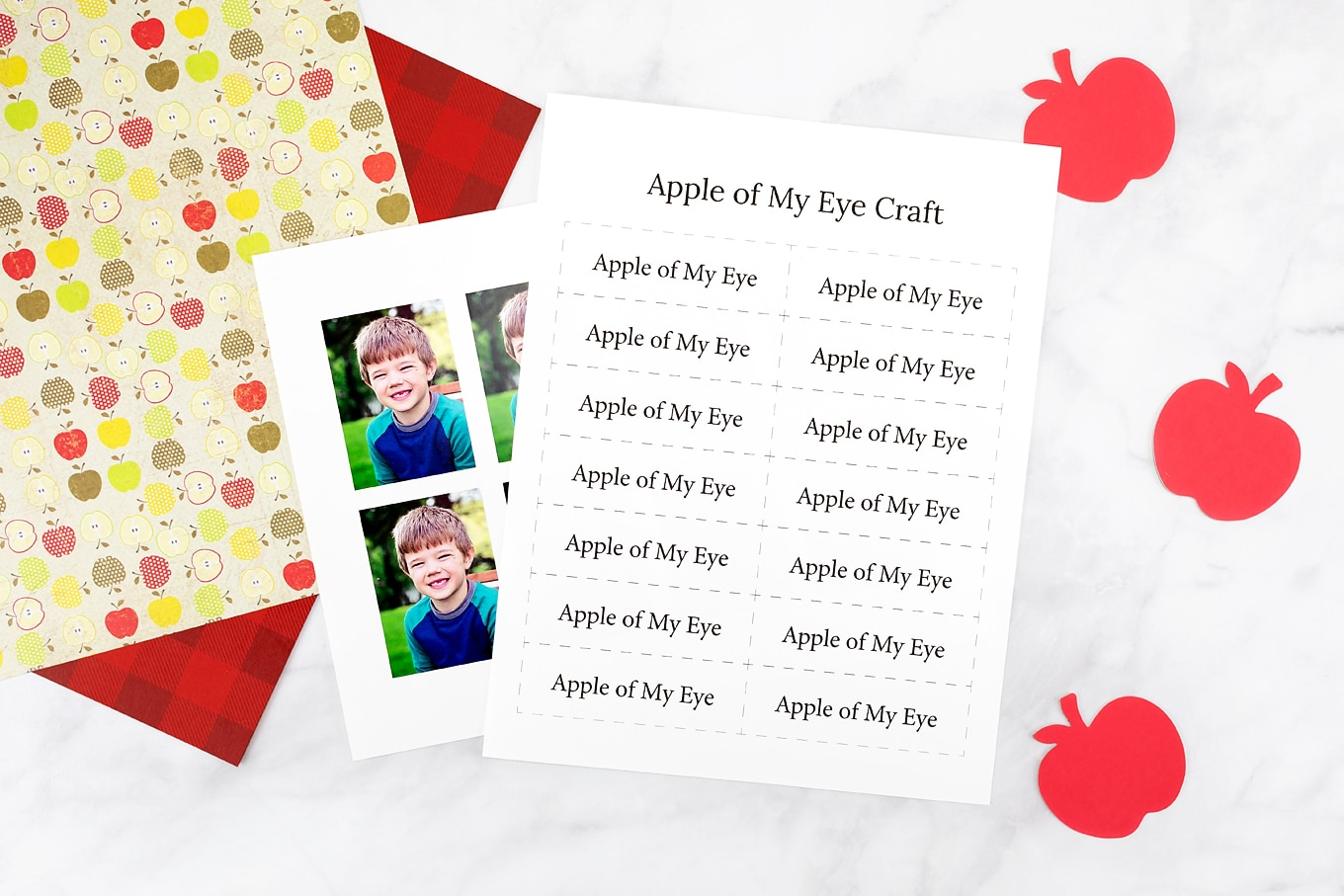 Apple of My Eye Printable Template