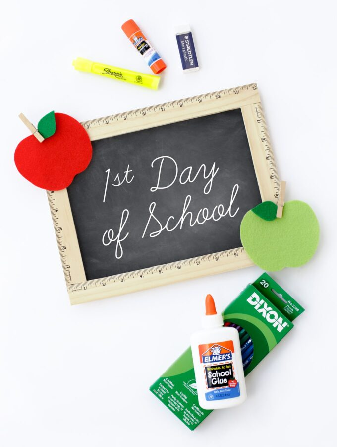 Easy DIY First Day of School Sign