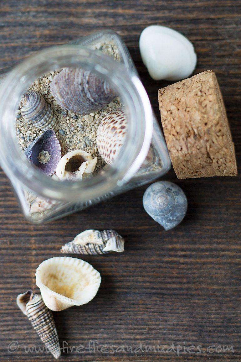 Beach Keepsake Craft for Kids   Fireflies and Mud Pies