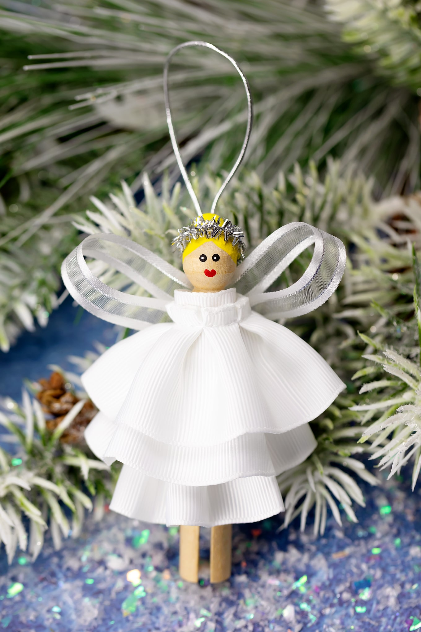 How to Make a Beautiful DIY Christmas Angel Ornament for Kids