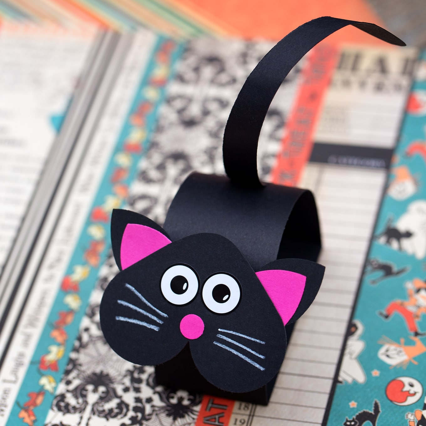 How To Make A Paper Bobble Head Black Cat Craft