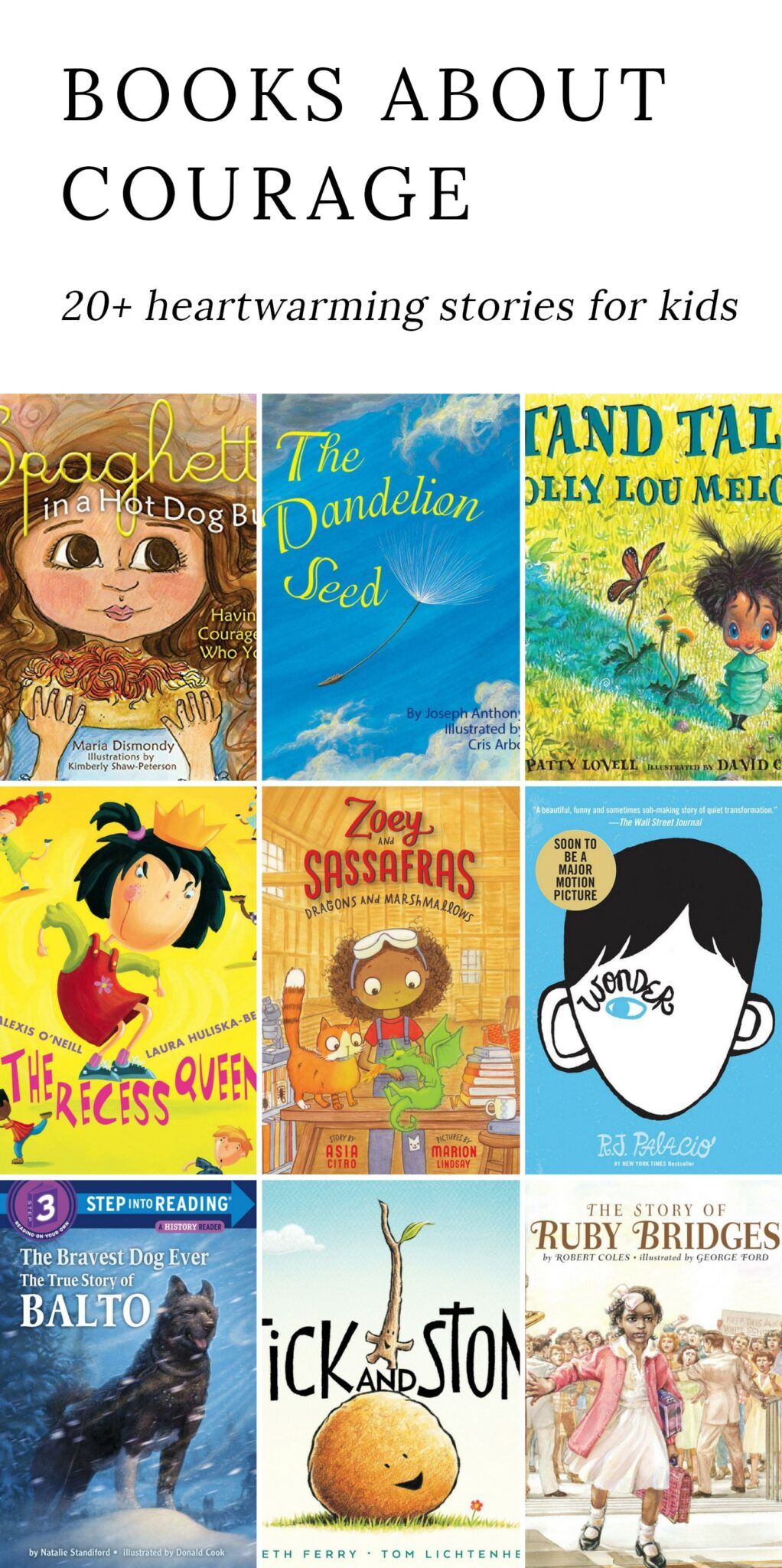 Relatable, heartwarming books about courage that entertain, educate, and inspire kids to grow in character. For kids of all ages! #courage #books #kids via @firefliesandmudpies
