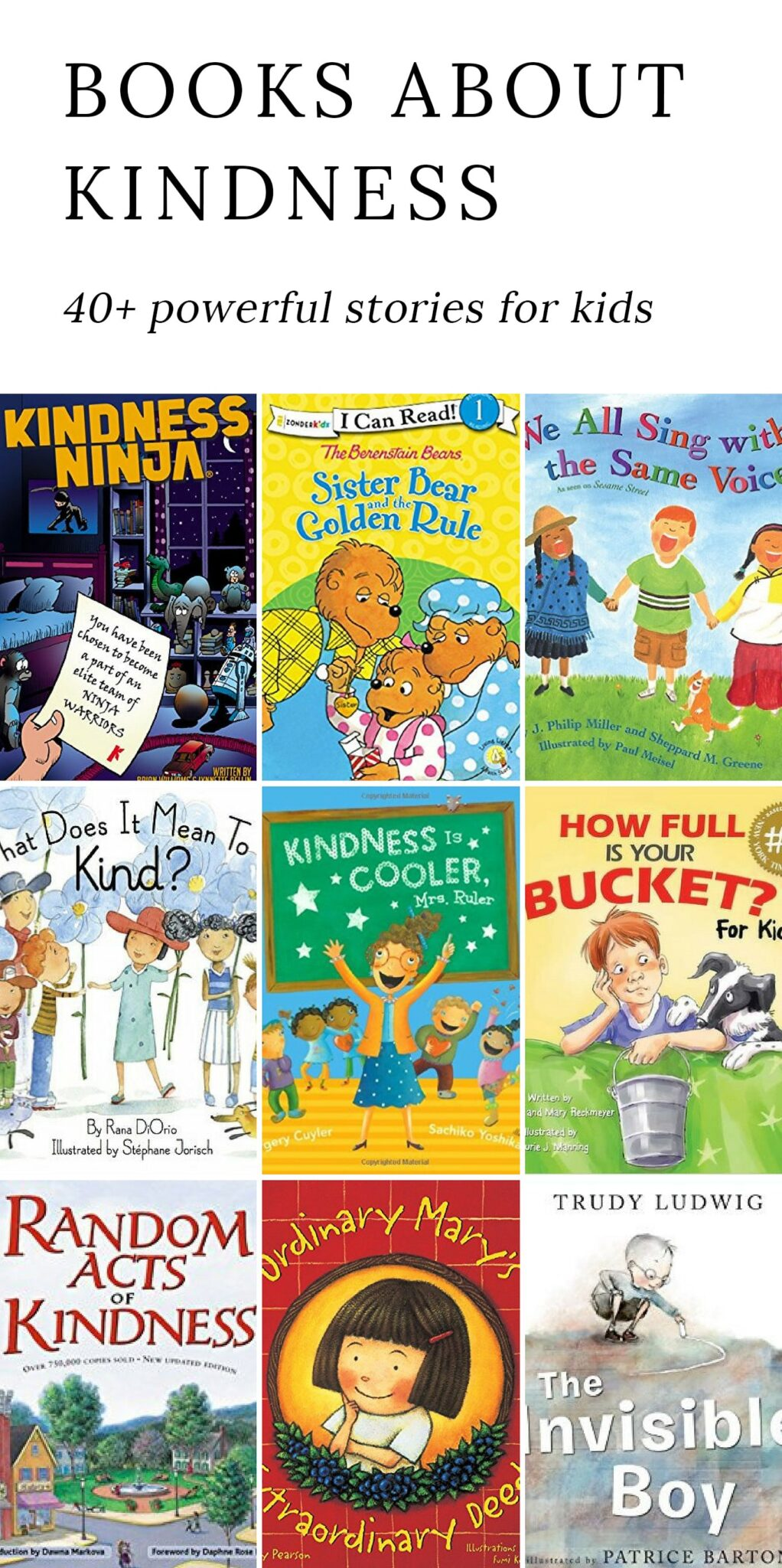 Discover 40+ powerful books for kids that encourage kindness, strengthen relationships, and do their part to make the world a happier place.