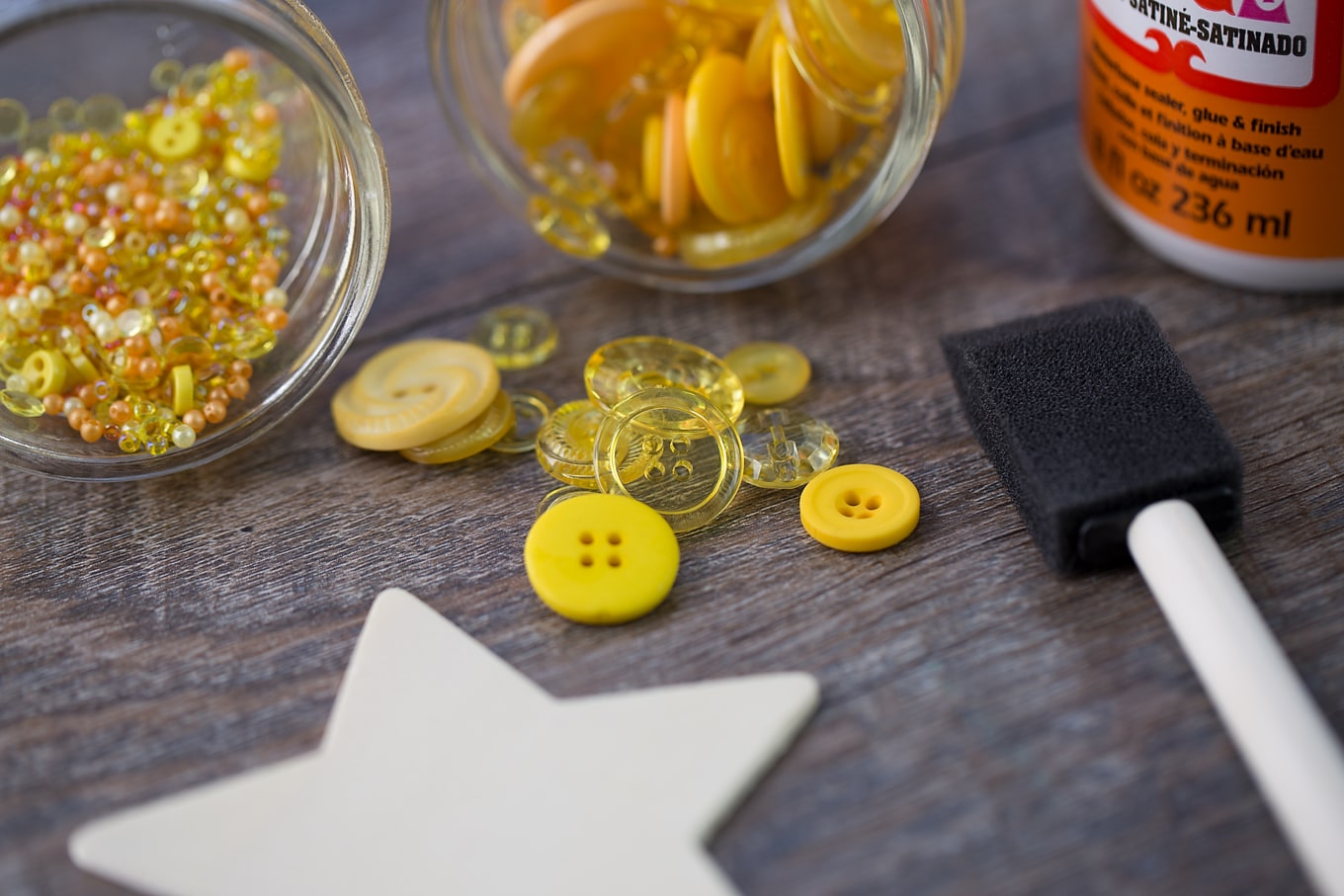 Supplies Needed for Button Star Ornament