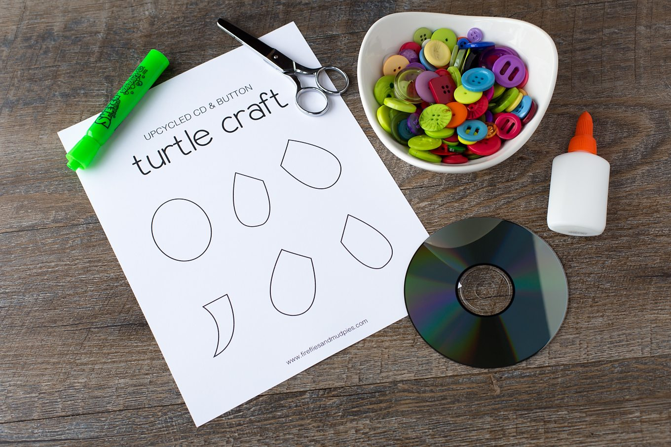 Supplies Needed for Easy and Fun Turtle Craft