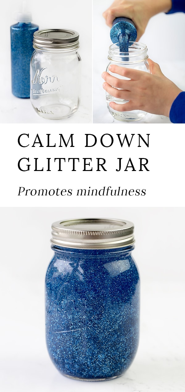 Mindfulness is an important skill for kids to develop. Learn how to make a calm down glitter jar to promote mindfulness and calm in your home or classroom. #glitterjar #socialemotionallearning #sensorybottles #glittertimer #calmdown #angermanagement