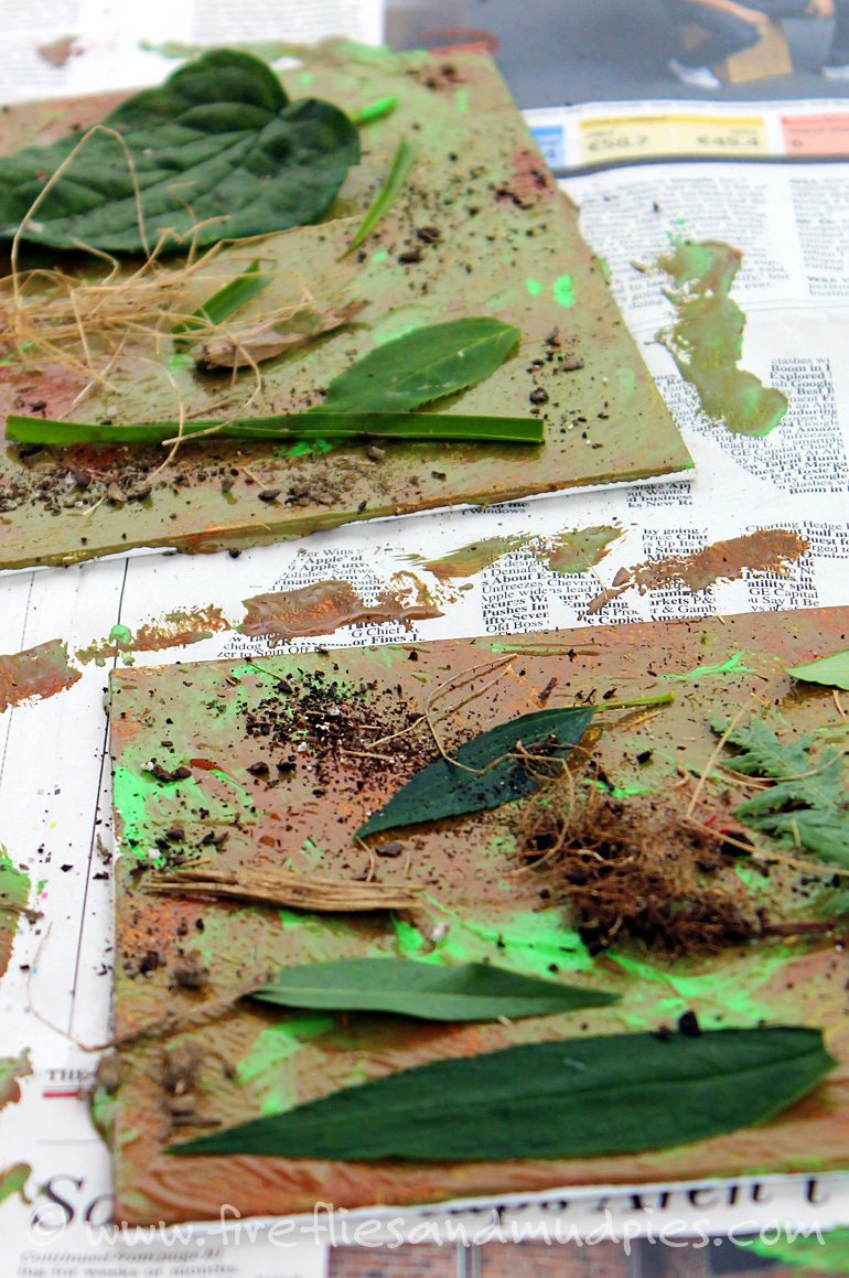 Camo Art with Kids | Fireflies and Mud Pies