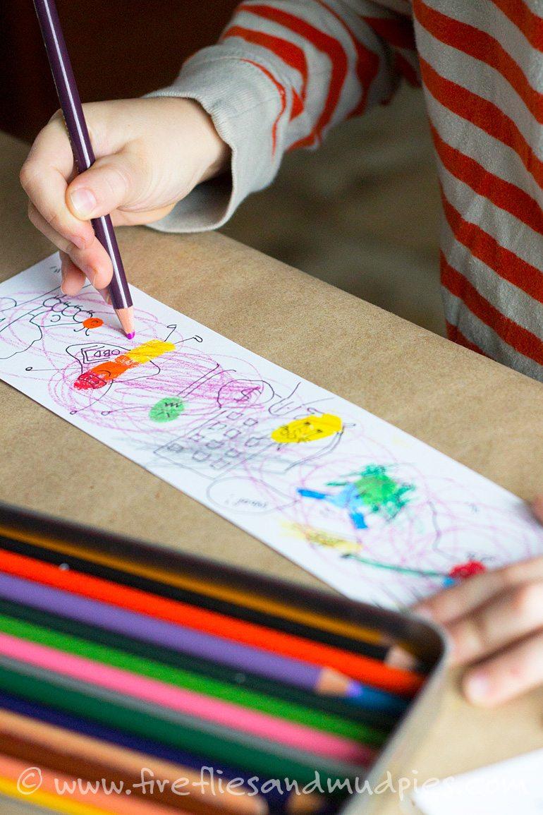 Fingerprint Cartoons with Kids   Fireflies and Mud Pies