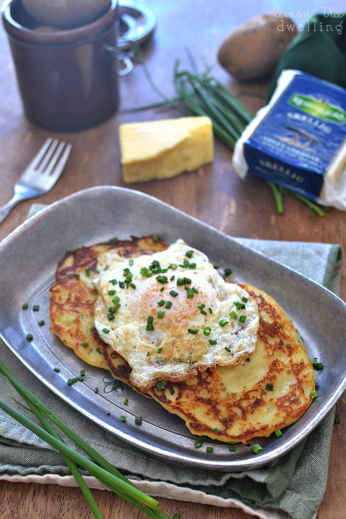 Cheesy Irish Potato Pancakes