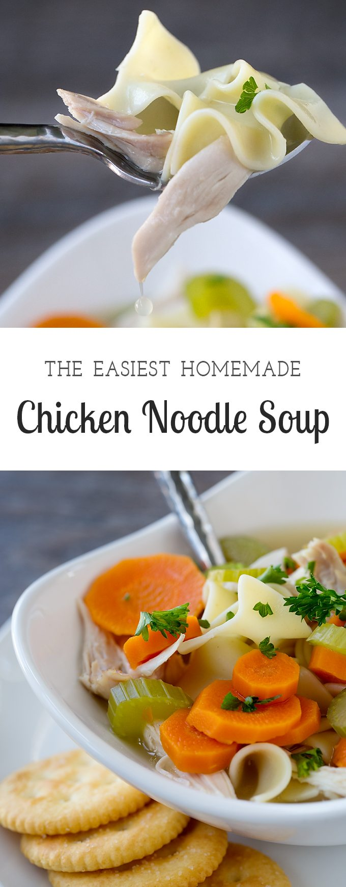 This is the easiest way to keep homemade chicken noodle soup in stock for cold weather, illness, or just because your family is craving a hearty lunch.