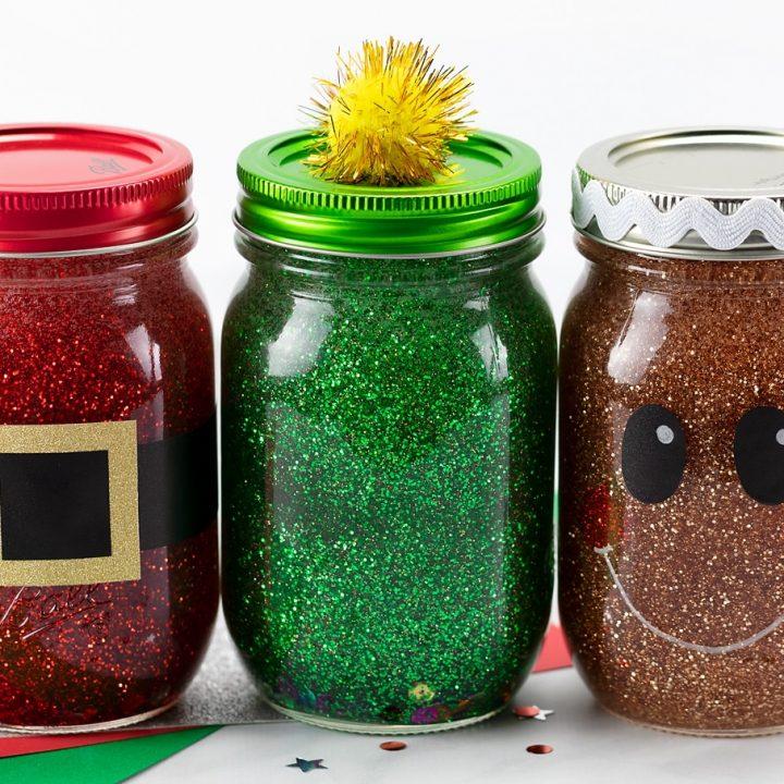Christmas Glitter Jars Fireflies And Mud Pies