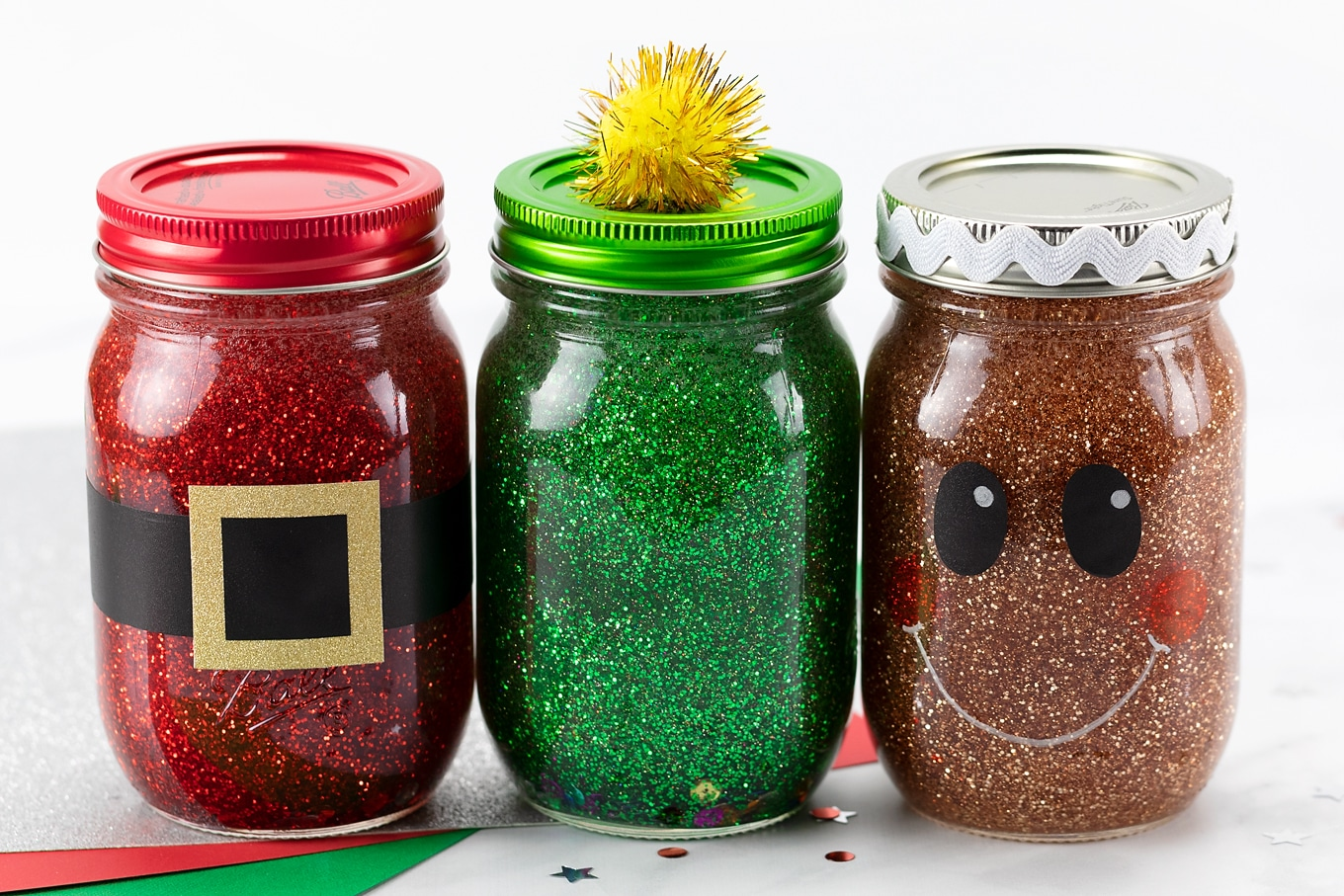 Easy and Fun Christmas Glitter Jars for Kids