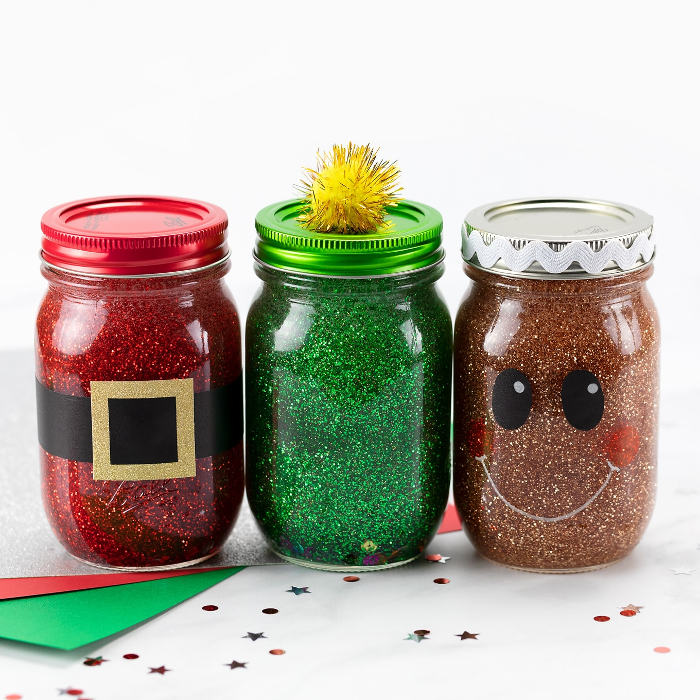 Christmas Glitter Jars Fireflies And Mud Pies