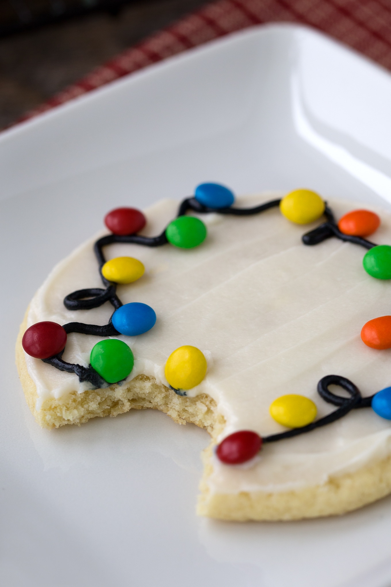 Decorated Christmas Lights Cookie
