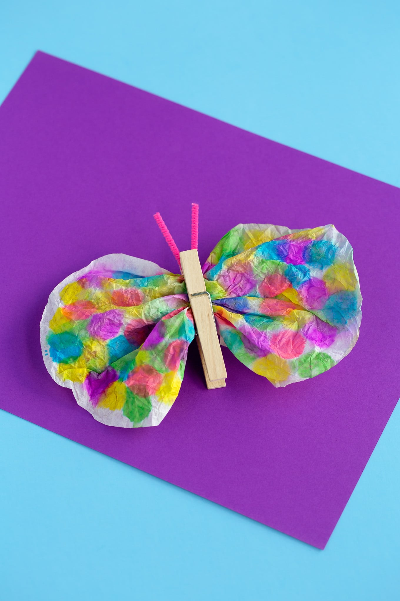 How to Make a Classic Coffee Filter Butterfly Craft