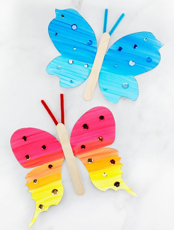 Colorful Fluttering Butterfly Craft